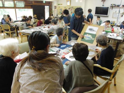 オイルパステル画 ~ アジの干物を描く ~_e0222340_15234556.jpg
