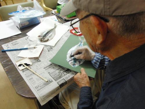 オイルパステル画 ~ アジの干物を描く ~_e0222340_15245975.jpg