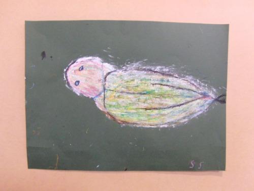 オイルパステル画 ~ アジの干物を描く ~_e0222340_15414823.jpg