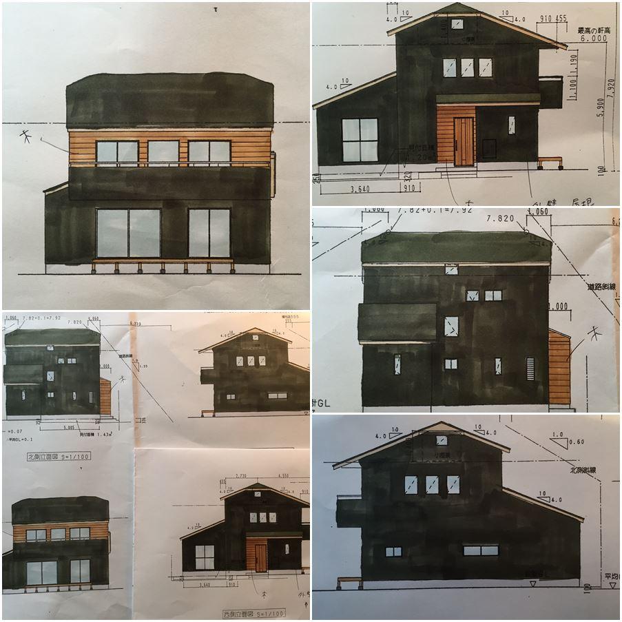 横浜市希望ヶ丘の家☆外壁イメージを書いて下さいました_c0152341_10474941.jpg