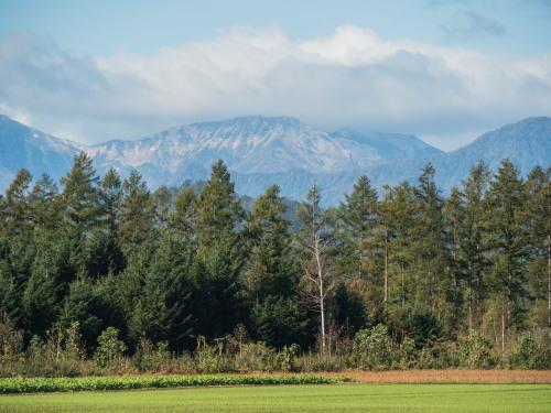 ここ数日の冷え込みで・・日高山脈の高い山(カムエクなど)が冠雪!_f0276498_22435370.jpg