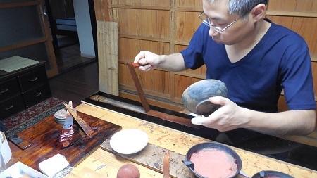仏教行事に使う器の修理 その2 2016.10.10_c0213599_01013411.jpg