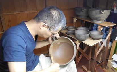 仏教行事に使う器の修理 その2 2016.10.10_c0213599_01174925.jpg