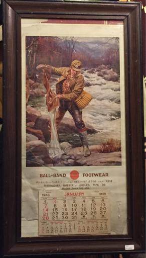 本日入荷1945年ballband カレンダー額付!_c0144020_12582588.jpg