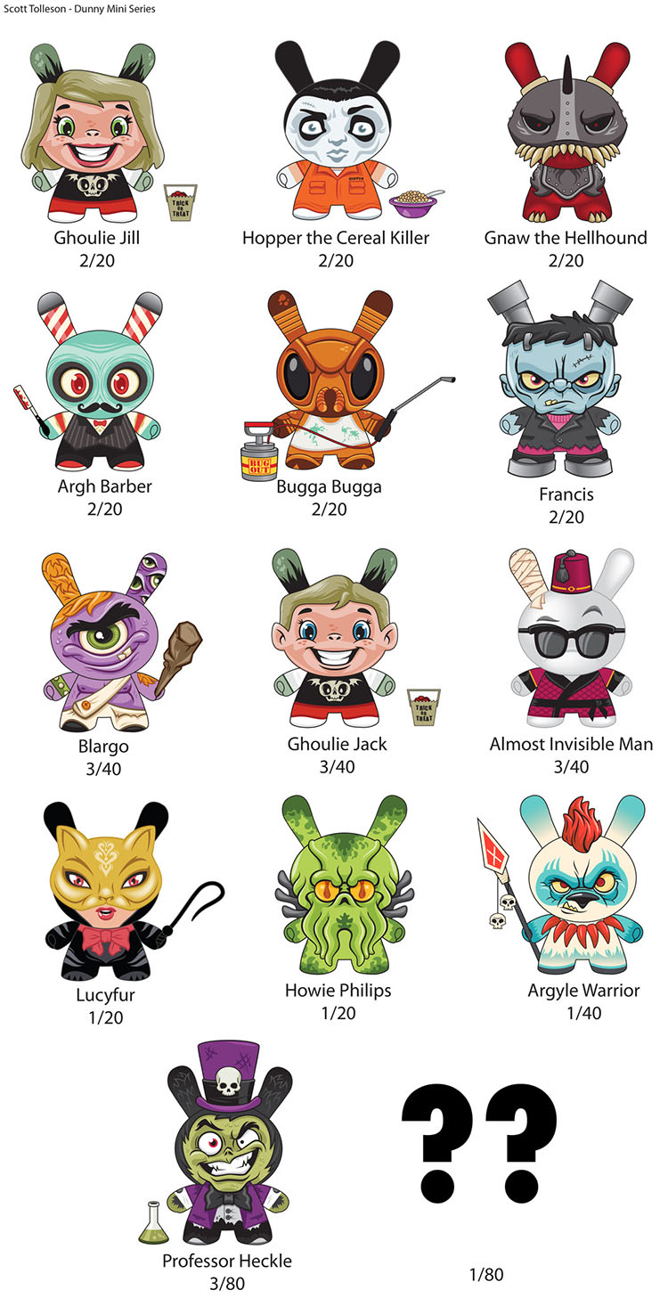 The Odd Ones Dunny Mini Series by Scott Tolleson_e0118156_19105353.jpg