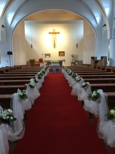 教会での結婚式・・・・雨の予報もどこかへ・・・_b0137969_11413348.jpeg