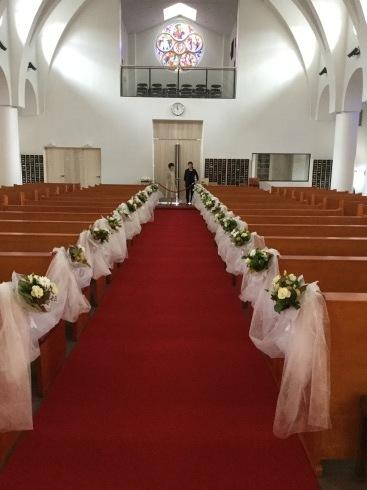 教会での結婚式・・・・雨の予報もどこかへ・・・_b0137969_11433617.jpeg