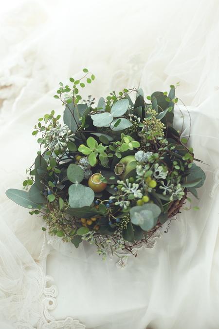 秋の会場装花 ラ・ビュット・ボワゼさまへ 実もののリングピロー_a0042928_17492921.jpg