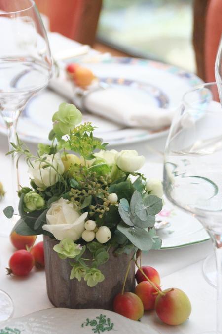 秋の会場装花 ラ・ビュット・ボワゼさまへ 実もののリングピロー_a0042928_1757898.jpg