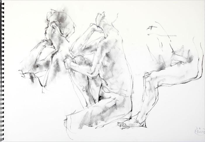 《 「肘をつくポーズ」・・・裸婦スケッチ 2 》_f0159856_13101095.jpg