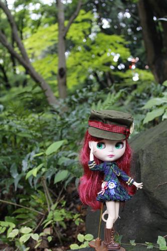 東京タワー横の公園でブライス外撮り_a0275527_21522808.jpg