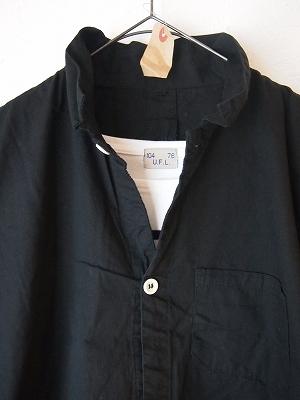 10/11 スウェーデンタイプグランパシャツ ブラック 再入荷しました_f0325437_12541659.jpg