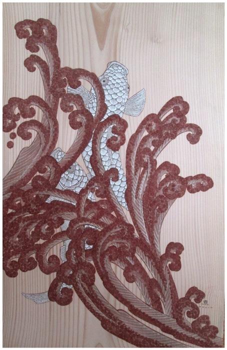 福井安紀 ー土と石で描く板絵展ー_e0255740_10440546.jpg