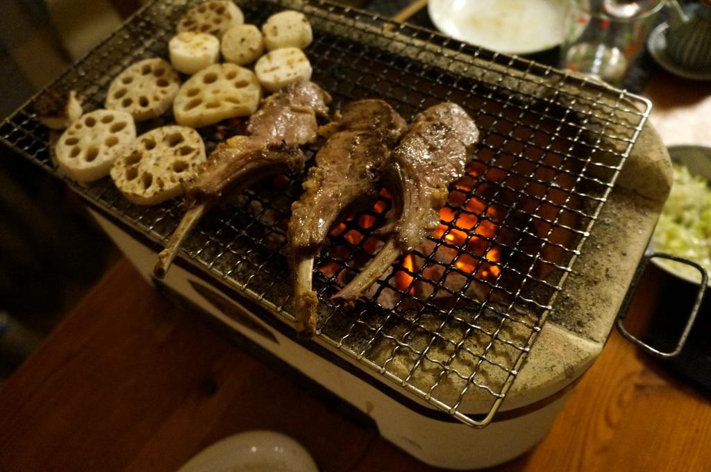 炭火焼送別晩餐。_c0180686_08231915.jpg