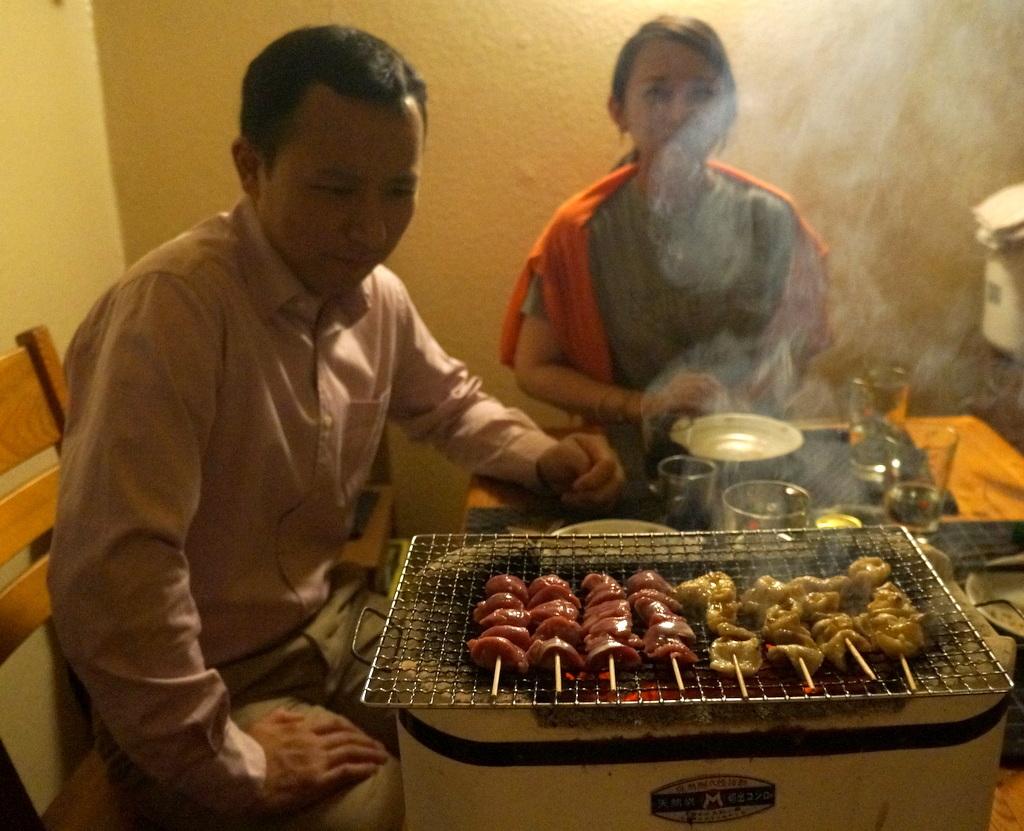 炭火焼送別晩餐。_c0180686_08242036.jpg