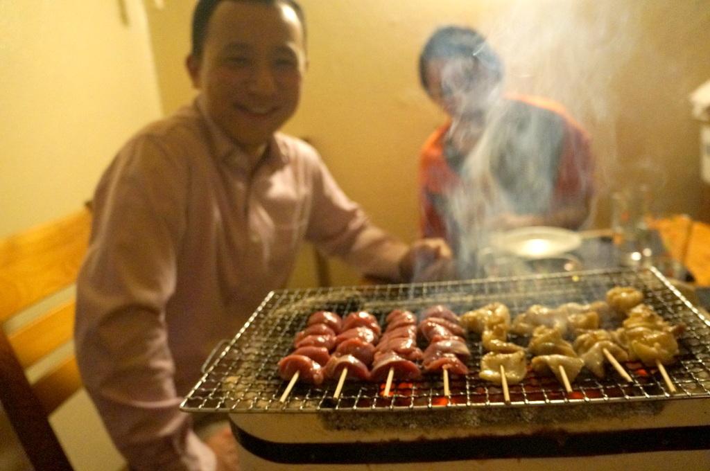 炭火焼送別晩餐。_c0180686_08245040.jpg