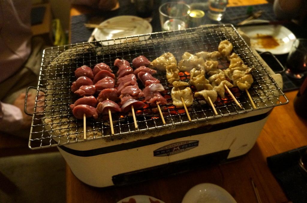 炭火焼送別晩餐。_c0180686_08251916.jpg