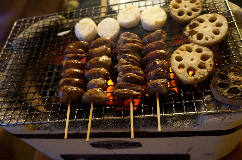 炭火焼送別晩餐。_c0180686_08262085.jpg