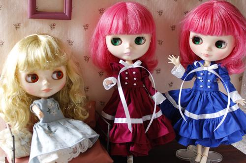ルナちゃん、ドレスのリボンを変えてみたいと言い張って・・・_a0275527_23463777.jpg