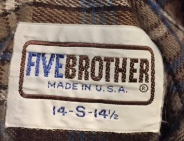 10/15(土)入荷! FiveBrothers ネルシャツ サイズS!_c0144020_16275099.jpg