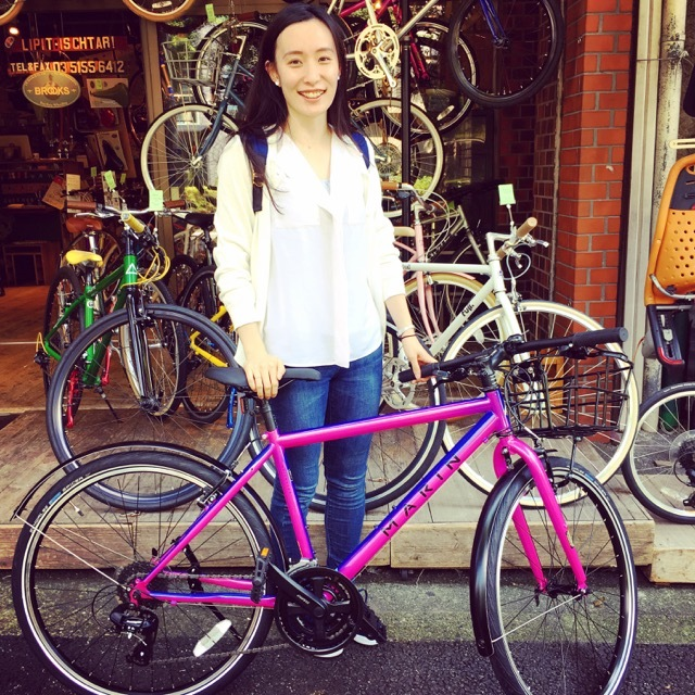 ☆今日のバイシクルガール☆ 自転車女子 おしゃれ自転車 自転車ガール 自転車女子 ミニベロ クロスバイク_b0212032_15102906.jpg