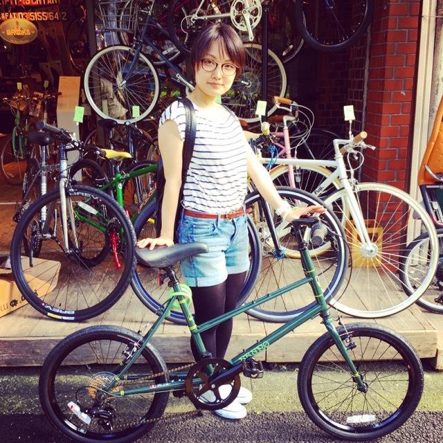 ☆今日のバイシクルガール☆ 自転車女子 おしゃれ自転車 自転車ガール 自転車女子 ミニベロ クロスバイク_b0212032_15112782.jpg