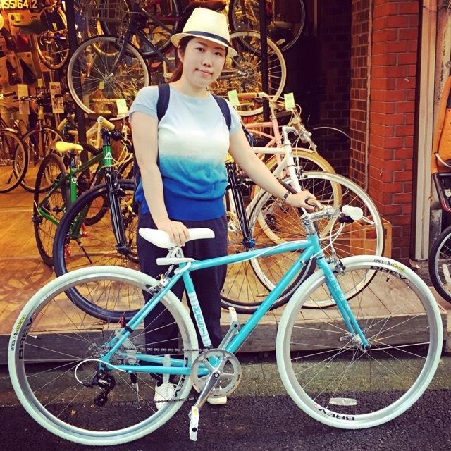 ☆今日のバイシクルガール☆ 自転車女子 おしゃれ自転車 自転車ガール 自転車女子 ミニベロ クロスバイク_b0212032_15114092.jpg