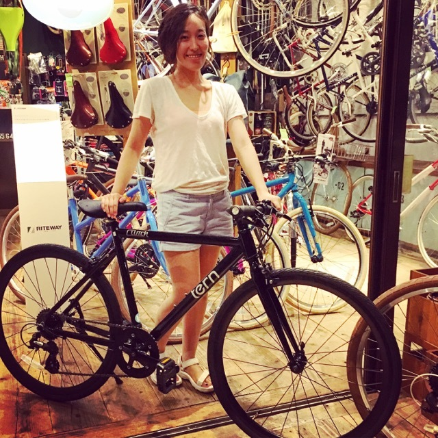 ☆今日のバイシクルガール☆ 自転車女子 おしゃれ自転車 自転車ガール 自転車女子 ミニベロ クロスバイク_b0212032_15115110.jpg
