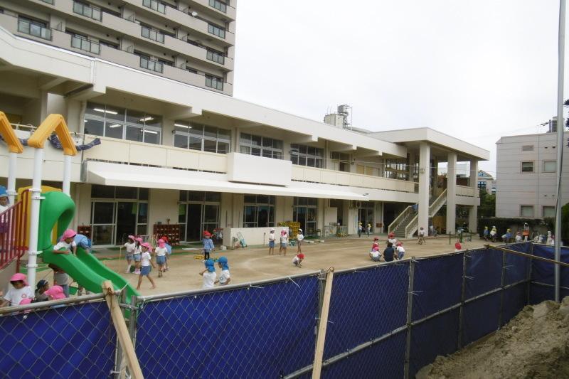 幼稚園の擁壁工事_f0205367_17424229.jpg