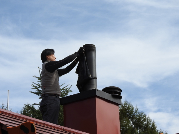 薪ストーブの煙突お掃除_b0174425_18294841.jpg