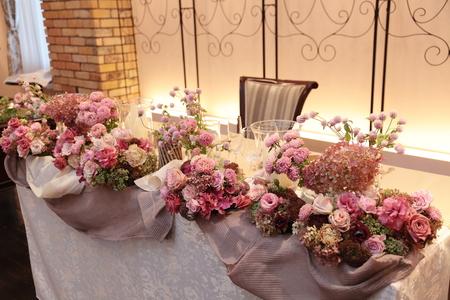 秋の装花 ザ・ハウス白金様へ 美味しい料理は最高のおもてなし_a0042928_18401778.jpg