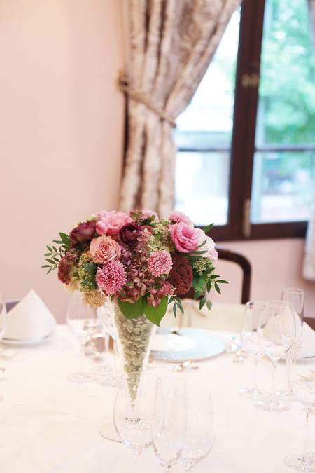 秋の装花 ザ・ハウス白金様へ 美味しい料理は最高のおもてなし_a0042928_18542377.jpg