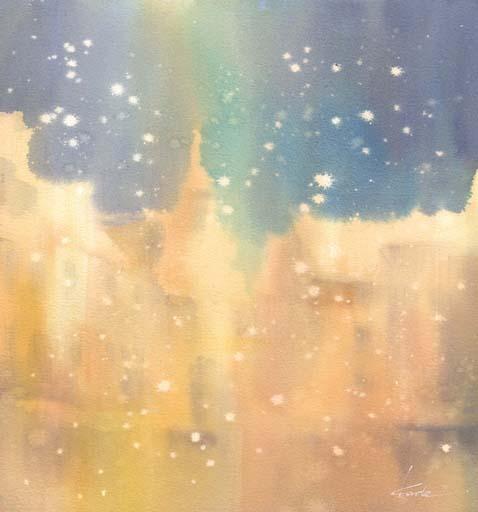 雪 水彩画_f0176370_1163410.jpg