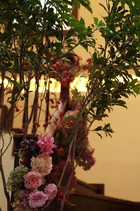 秋の装花 ザ・ハウス白金様へ 美味しい料理は最高のおもてなし_a0042928_1029375.jpg