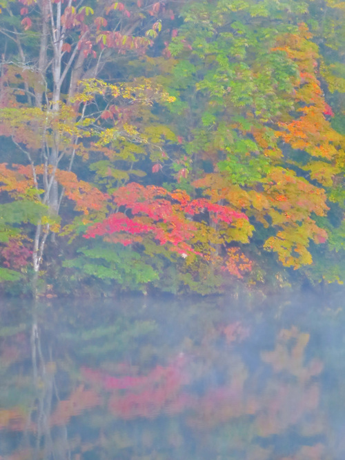 2016.10.16鏡池に映る戸隠連山と紅葉(戸隠)_e0321032_13392340.jpg