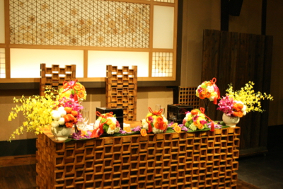 博多百年蔵 会場装花(カラフル♫)_e0149863_018197.jpg