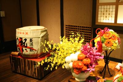 博多百年蔵 会場装花(カラフル♫)_e0149863_0183726.jpg