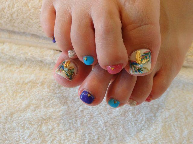 Botanical Foot Nail_a0239065_11330031.jpg