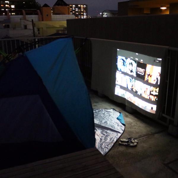 BenQ HT3050 プロジェクターで「第1回 ベランダ映画祭」_c0060143_20121031.jpg