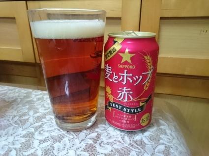 今夜の第3のビールVol.304  サッポロ麦とホップ赤¥113+テーブルマークごっつ旨いたこ焼¥235_b0042308_00100500.jpg