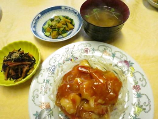 魚とエビのチリソース煮_d0031682_14141206.jpg