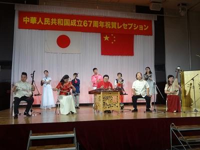 池田記念美術館ゴルフコンペに   中国成立67周年祝賀会_b0092684_15272099.jpg
