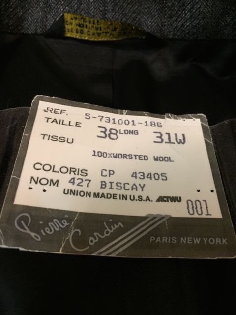10/22(土)入荷商品!70〜80s カルダン wool スーツ!_c0144020_1421873.jpg