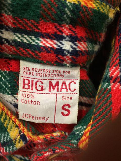 10/22(土)入荷商品!BIGMAC ビッグマック ネルシャツ! サイズS_c0144020_14587100.jpg