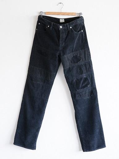 PATCHWORK CORDUROY PANTS BLACK_d0160378_16571399.jpg