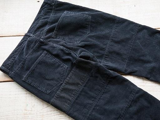 PATCHWORK CORDUROY PANTS BLACK_d0160378_16582223.jpg