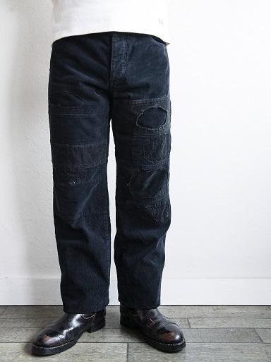 PATCHWORK CORDUROY PANTS BLACK_d0160378_16583887.jpg