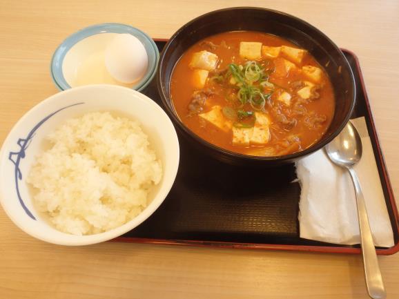 松屋の豆腐キムチチゲ膳     門真店_c0118393_11373454.jpg