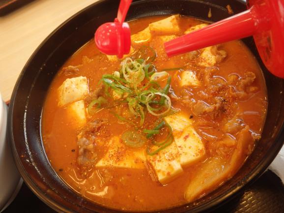 松屋の豆腐キムチチゲ膳     門真店_c0118393_11454812.jpg