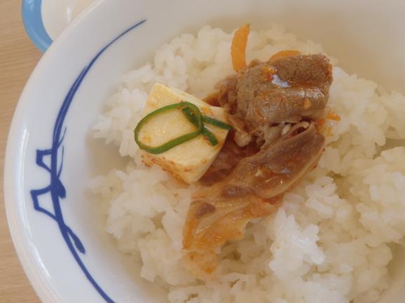 松屋の豆腐キムチチゲ膳     門真店_c0118393_11554324.jpg